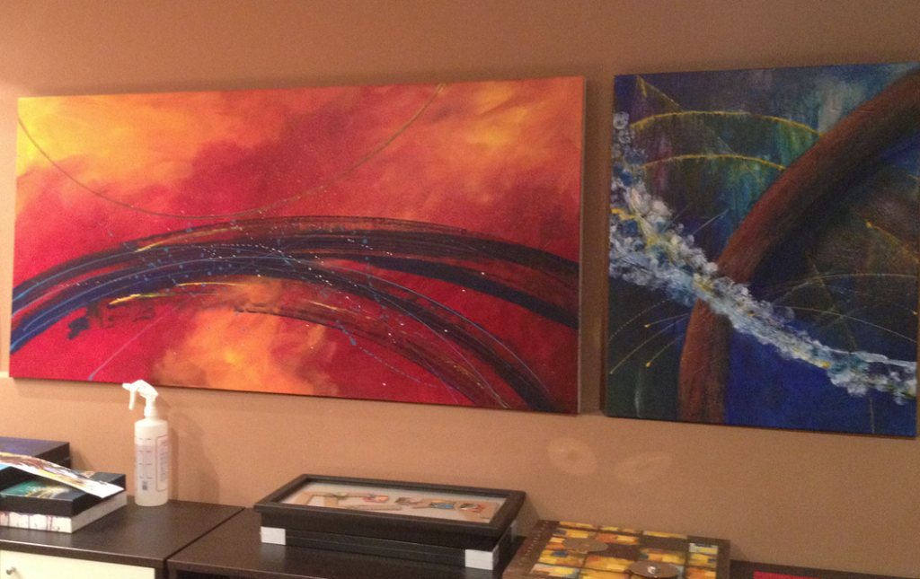 Original commissioned abstract art